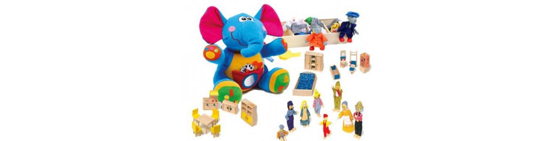 Muñecos, peluches y accesorios