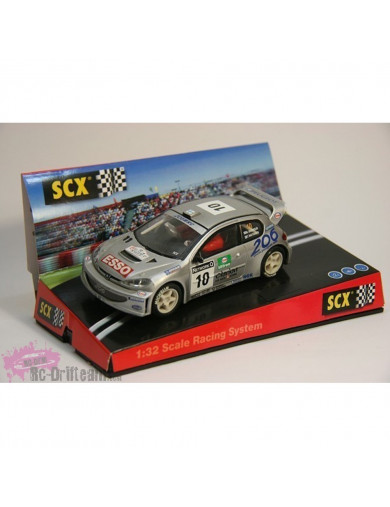 "Peugeot 206 WRC ""World Champion 2000"", Coche SCALEXTRIC (6064). SLOT CAR SCALEXTRIC 6064"