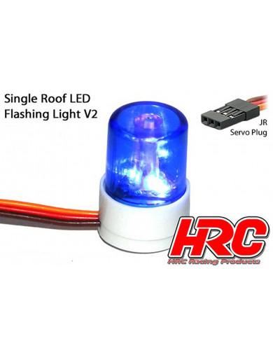Kit luz de Policía para coches RC 1/10 (Azul). Light Kit HRC8737B HRC8737B Kit de Luces y vinilos RC