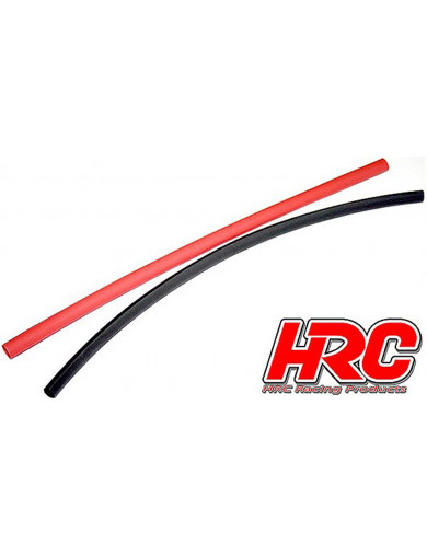 Tubo Termo Retractil 2mm (ROJO Y NEGRO) (250mm Cada uno) Heat Shrink Tube HRC5111 Conectores, Cables y Adaptadores RC