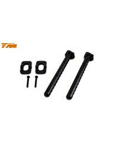 503301-1 Soportes Carrocería Traseros 65MM TEAM MAGIC E4. Rear Body Post long TM503301-1 Recambios Team Magic
