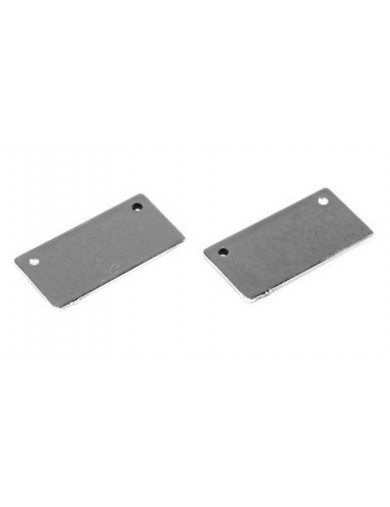 Placas Matricula USA Cromadas, para Coches RC 1 10 (ABSIMA 2320006). Number Plates Holder ABSIMA 2320006 Accesorios Carroceri...