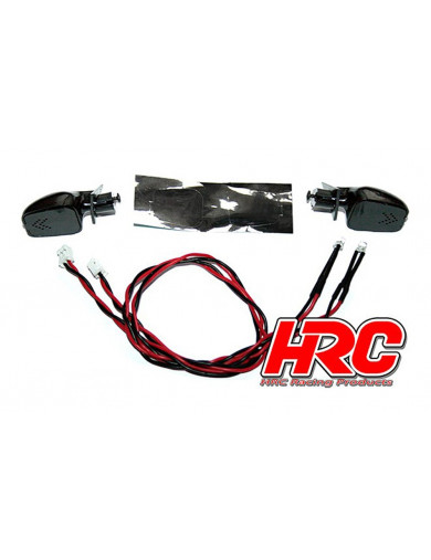Retrovisores Con LEDS para coches rc (HRC8702). Car Mirror LED Kit HRC8702 Accesorios Carrocerias RC