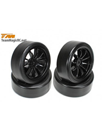 Ruedas Drift RC 1/10 TEAM MAGIC (TM503333BK). Tires Drift mounted TM503333BK