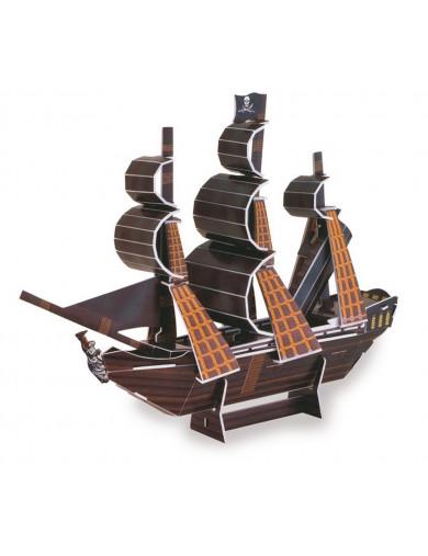 Puzzle 3D Barco Pirata La Perla Negra LEG 9043 Puzzles y Rompecabezas