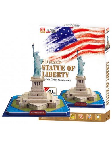 Puzzle 3D Estatua de la Libertad. 39 piezas, 3D Statue of Liberty LEG 8925 Puzzles y Rompecabezas