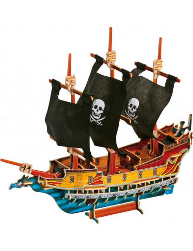 Puzzle 3D Barco Pirata de Madera. 3D Pirate Ship LEG 1404 Puzzles y Rompecabezas