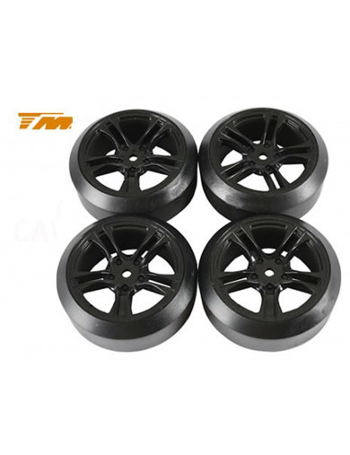 Ruedas Drift RC 1/10 TEAM MAGIC (TM503390BK). Tires Drift mounted TM503390BK