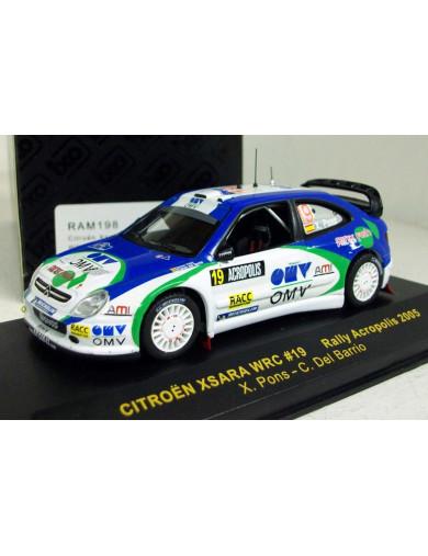 Citroen Xsara WRC Xavi Pons 2005. Coche Escala 1/43 (IXO RAM198). Auto Diecast IXO RAM198