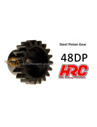 Piñon 20T, Pitch 48dp para Coches Rc (HRC74820). Pinion Gear Steel - Light HRC 74820 Piñones y Coronas RC