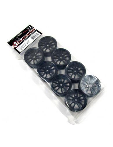 Juego de 8 Llantas 5 Radios Para coches rc 1/10 (color negro) (3RACING WH-01/BL) 3RACING WH-01/BL