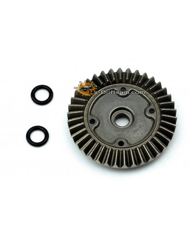 Corona Diferencial S10 BLAST (LRP 120970). Differential Crown Gear 38T and Sealing LRP 120970 Recambios LRP S10 BLAST BX
