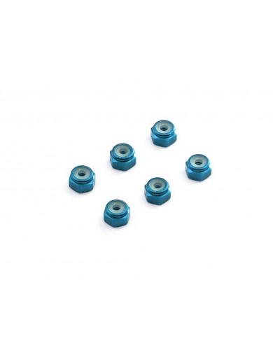 Tuercas de Aluminio Metrica 2 con Autoblocante, Azul (3RAC-N20/BU/V2). 2mm Aluminum Lock Nuts 3RAC-N20/BU/V2 Recambios HPI Sp...
