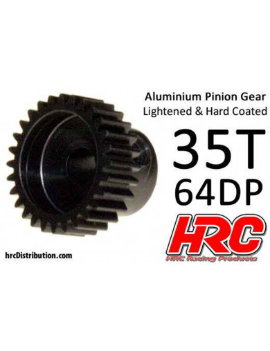 Piñon 35T, Pitch 64 para Coches Rc (HRC 76435AL). Pinion Gear Steel - Light HRC 76435AL Piñones y Coronas RC