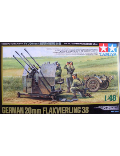 Cañon Antiaereo Alemán FLAKVIERLING 38 20mm (TAMIYA 32554). Military Kit TAMIYA 32554 Maquetas Tanques, figuras y otros 2ª Gu...