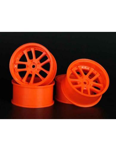 Juego 4 Llantas para Coches RC 1/10 Naranjas (SPEEDLINE 186O7) SPEEDLINE 186O7
