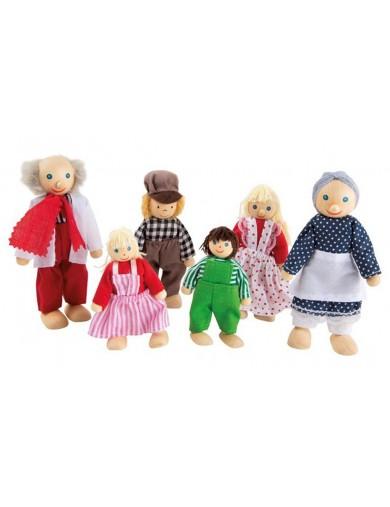"""Familia de Molineros, Muñequitos de Madera Articulados. Bending Dolls """"The Millers"""" LEG 2005 Muñecos y Peluches"""