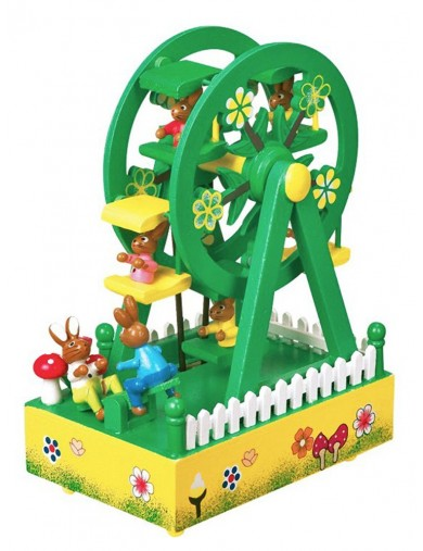 "Caja de Musica ""Noria y Conejitos"". Musical Box ""Ferris Wheel"" LEG 1845 Juguetes Musicales"