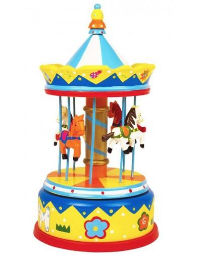 "Caja de Musica ""Tiovivo Caballitos"". Musical Box Merry-go-round Horses LEG 2453 Juguetes Musicales"
