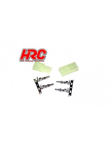Pareja de conectores TAMIYA MINI (macho-hembra) (9085) HRC 9085 Conectores, Cables y Adaptadores RC