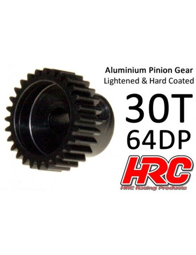 Piñon 30T, Pitch 64 para Coches Rc (HRC 76430AL). Pinion Gear Steel - Light HRC 76430AL Piñones y Coronas RC