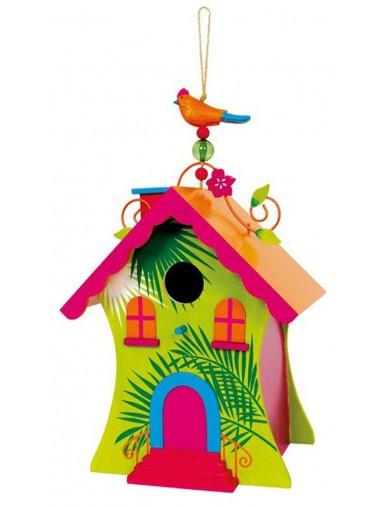 Casa para Pajaros de Madera Pintada, para el Jardin LEG 6365 Articulos de Jardinería