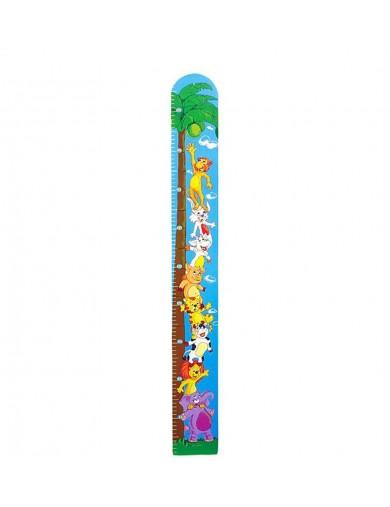 """Medidor de Niños, Animalitos y Palmera. Measuring Stick """"Coconut"""" LEG 4693 Decoración infantil"""