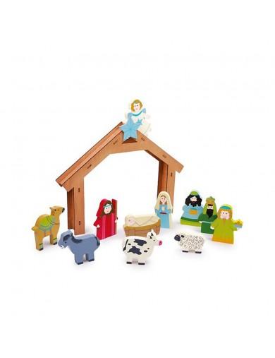Nacimiento, Belén Navideño de Madera, para Niños. Wooden nativity scene LEG 6713 Artículos Navideños