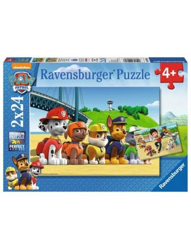 Puzzle Patrulla Canina 2x24 piezas, Ravensburger Paw Patrol PS 273369 Puzzles y Rompecabezas