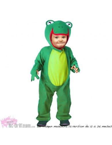 Disfraz de Rana, Para Bebés. Carnaval, Halloween. Frog Costume for BabiesDisfraces Infantiles