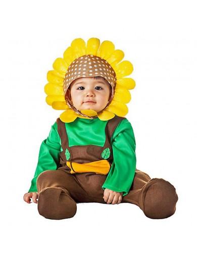 Disfraz de Girasol, Para Bebés. Carnaval, Halloween. Sunflower Costume for BabiesDisfraces Infantiles