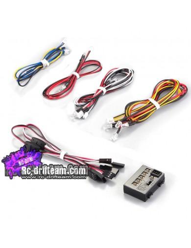 Kit de Luces Multifunción 12 Leds KillerBody, Led Light System 1/10 RC KB48102 Kit de Luces y vinilos RC