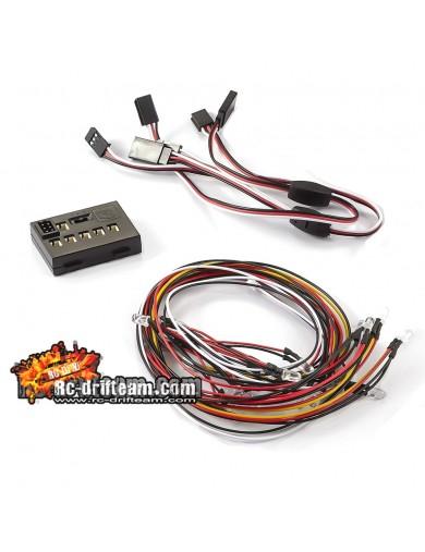 Kit de Luces Multifunción SC Truck 18 Leds KillerBody, Led Light System 1/10 RC (KB48103) KB48103 Kit de Luces y vinilos RC