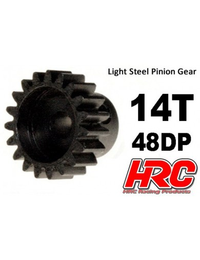 Piñon 14T, Pitch 48 para Coches Rc (HRC 74814). Pinion Gear Steel - Light HRC 74814 Piñones y Coronas RC