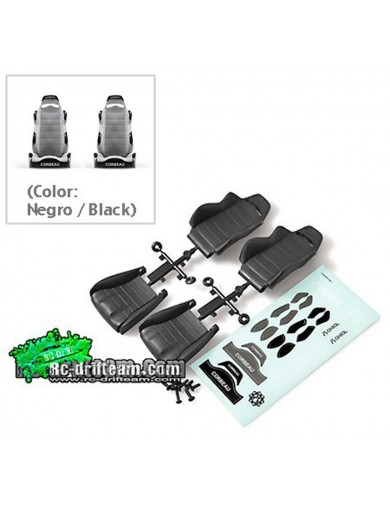 Asientos Bucket 1/10 AXIAL Corbeau LG1 Negro (Seat Black) AX80090 AX80090 Recambios AXIAL
