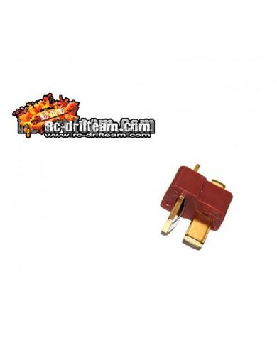 Conector Dean / T Macho. Unidad suelta, RC Connector HRC9033-1 Conectores, Cables y Adaptadores RC