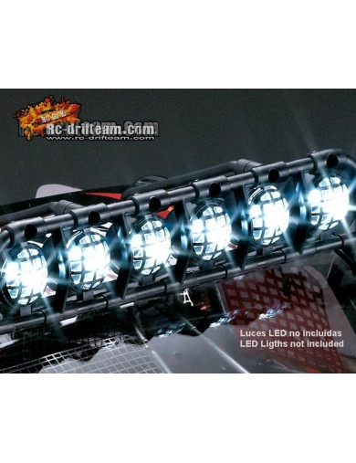 Barra de Luces de Techo para Crawler RC 1/10 (killerbody 48045). Roof Light Bar KB48045 Accesorios Carrocerias RC