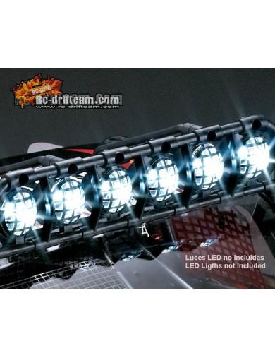 Barra de Luces de Techo para Crawler RC 1/10 (killerbody 48045). Roof Light Bar KB48045 Accesorios Carrocerias RC