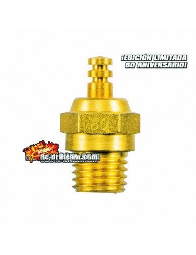 Bujía RC Media O.S. No.80, Limited Edition Oro 24k OS71642660 Motores RC Gasolina