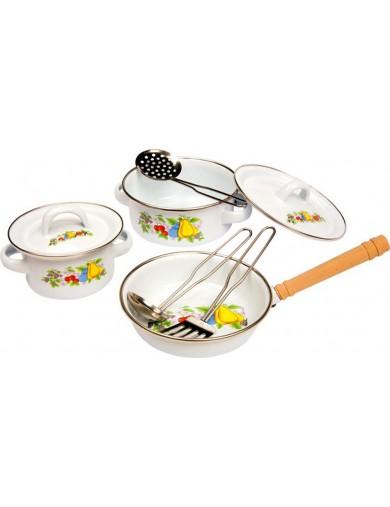 """Batería de cocina de juguete """"Casa de campo"""". Childrens Cooking Set LEGLER 8957 Cocinitas y Tiendas Juguete"""