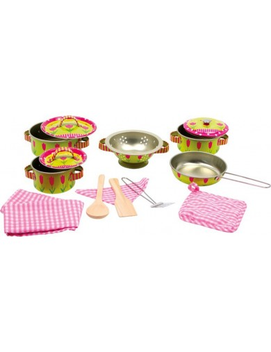 Batería de cocina Elen, 14 piezas. Childrens Cooking Set LEGLER 5311 Cocinitas y Tiendas Juguete