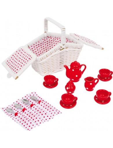 Mini Cesta de picnic Tina. Toy Picnic Basket LEGLER 5315 Cocinitas y Tiendas Juguete