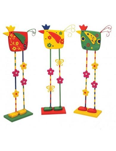 Pájaros decorativos de Madera. Set de 3. Deco Birds LEGLER 6261 Decoración Interior y Regalos