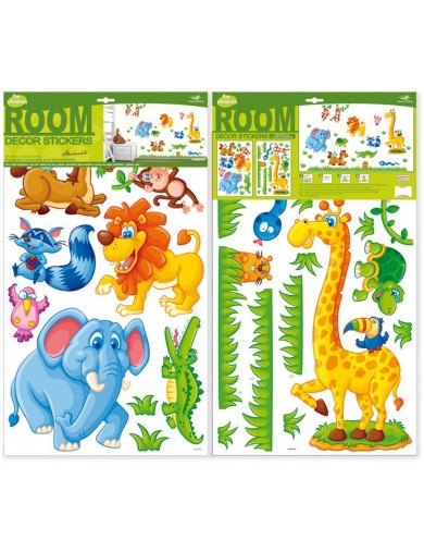 Vinilos Decorativos infantiles Safari. Art Decals Kids Wall Stickers Mural LEGLER 4084 Vinilos Decorativos, Stickers