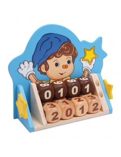"""Calendario infantil cubos de madera. Neverending Calendar """"Pino"""" LEGLER 6736 Decoración infantil"""