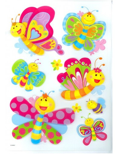 Vinilos Decorativos infantiles Mariposas. Art Decals Kids Wall Stickers Mural LEGLER 2923 Vinilos Decorativos, Stickers