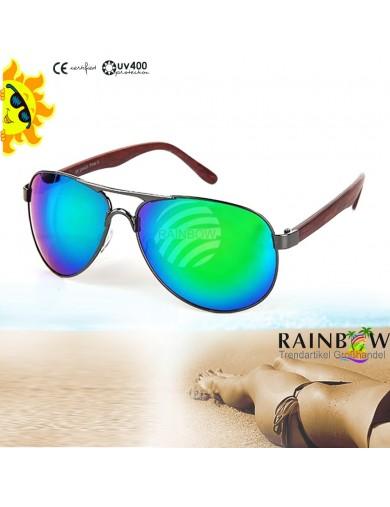 Gafas de Sol Aviator VERDE con Funda. Retro Vintage Sunglasses VIPER UV400