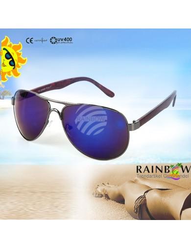 Gafas de Sol Aviator AZUL con Funda. Retro Vintage Sunglasses VIPER UV400 BLUE