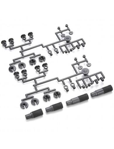 Repuesto Piezas Amortiguador ZX-5 (KYOSHO LA301-01). Shock Case Plastic Parts Set KYOSHO LA301-01 Recambios Lazer ZX-5, TF-5