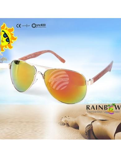 Gafas de Sol Aviator ORO con Funda. Retro Vintage Sunglasses VIPER UV400